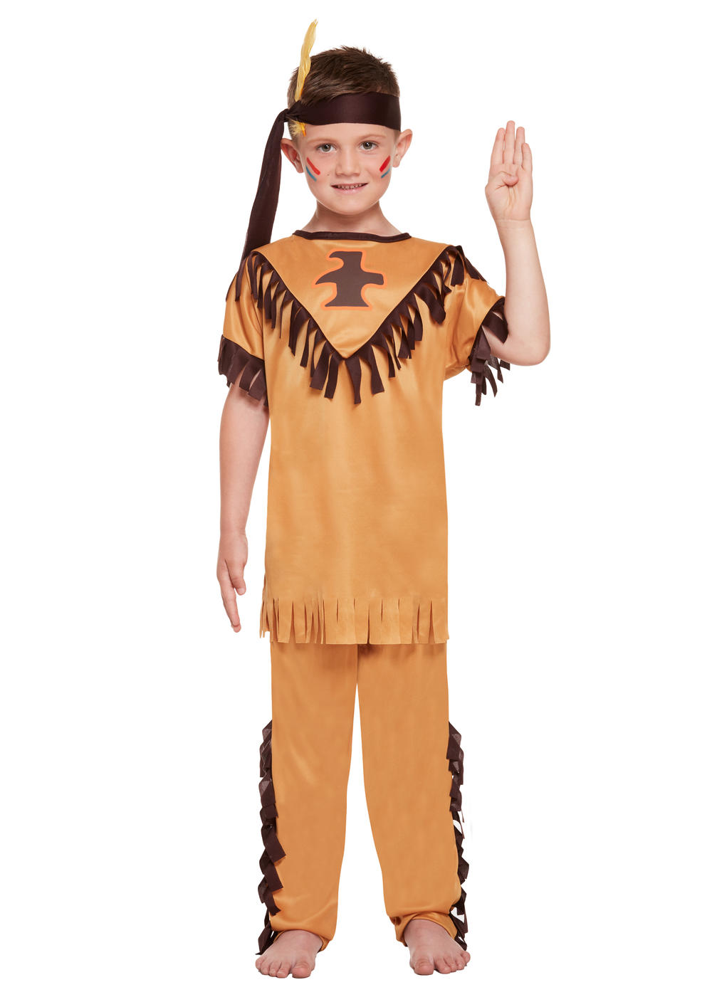 Native American Indian Boys Fancy Dress Kids Childs World Book Western Costume