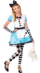 Alice Girls Fancy Dress Fairy Tale Book Day Week Wonderland Childs Kids Costume