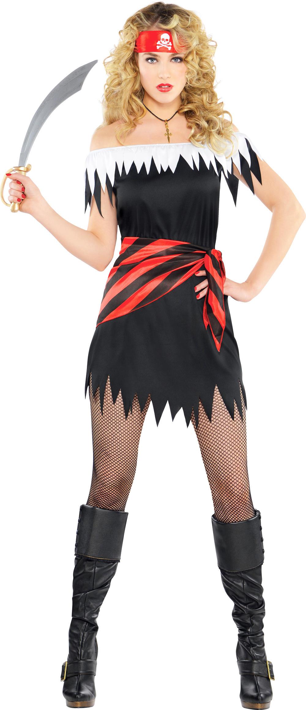 Pirate Buccaneer Ladies Fancy Dress Caribbean Shipmate Book Week Womens Costume