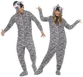Zebra Animal Adult Fancy Dress Zoo Book Week Jumpsuit Mens Ladies Costume Outfit
