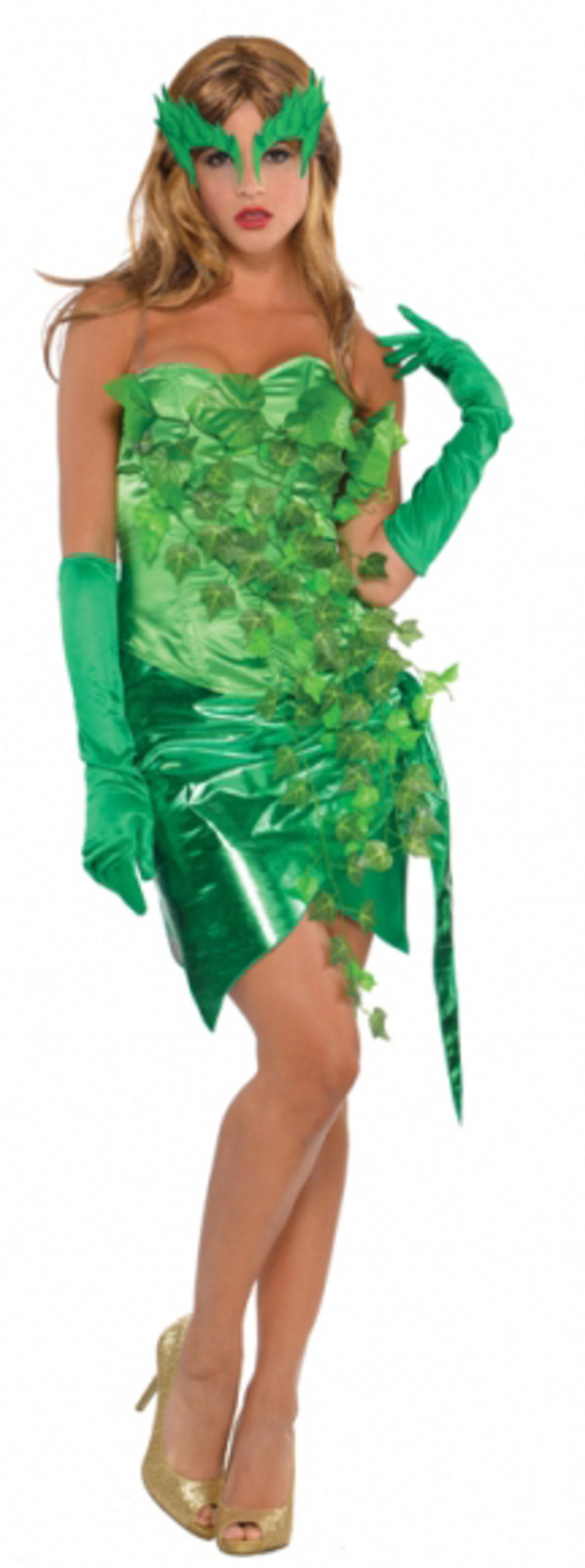 Toxic Ivy Ladies Halloween Fancy Dress Womens Villian Book Adults Costume Outfit
