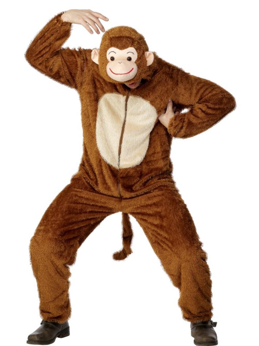 Jungle Monkey Adults Fancy Dress Zoo Animal Book Week Mens Ladies Costume Outfit