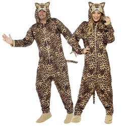 Jungle Leopard Adults Fancy Dress Safari Zoo Animal Book Day Mens Ladies Costume