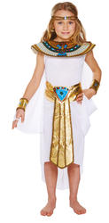 Egyptian Girls Fancy Dress Historical Ancient Queen Cleopatra Childs Kid Costume