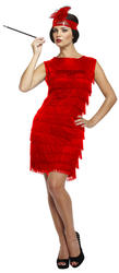 Red Flapper Lady Costume