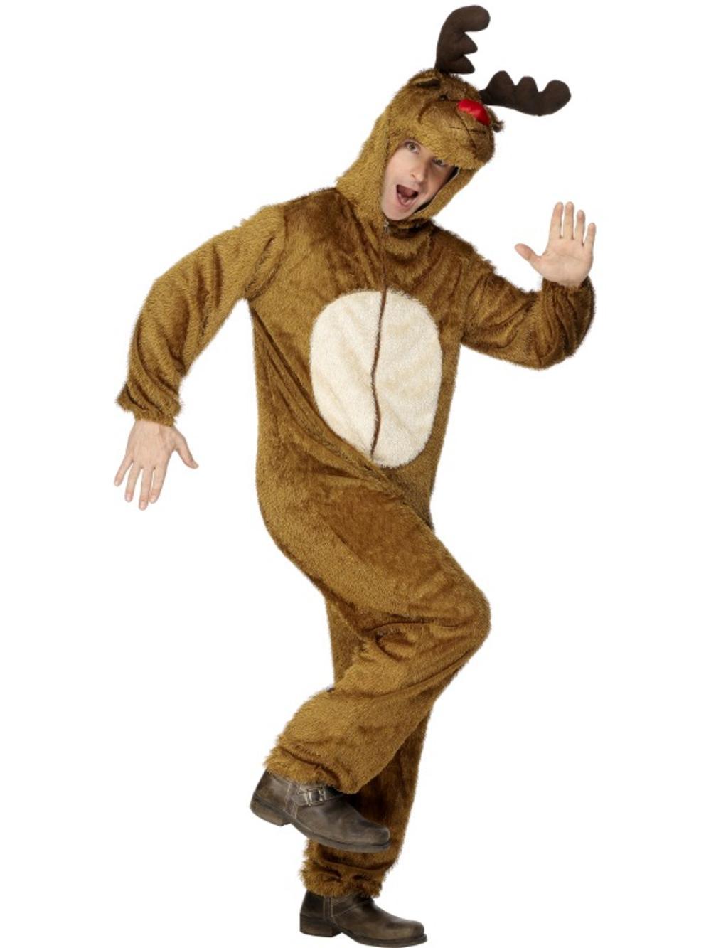 Reindeer Christmas Animal Mens Ladies Adult Unisex Fancy Dress Costume Outfit