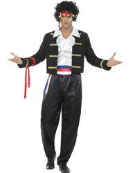 80's New Romantic Mens Fancy Dress Adam Ant Celebrity Star 1980s Adults Costume
