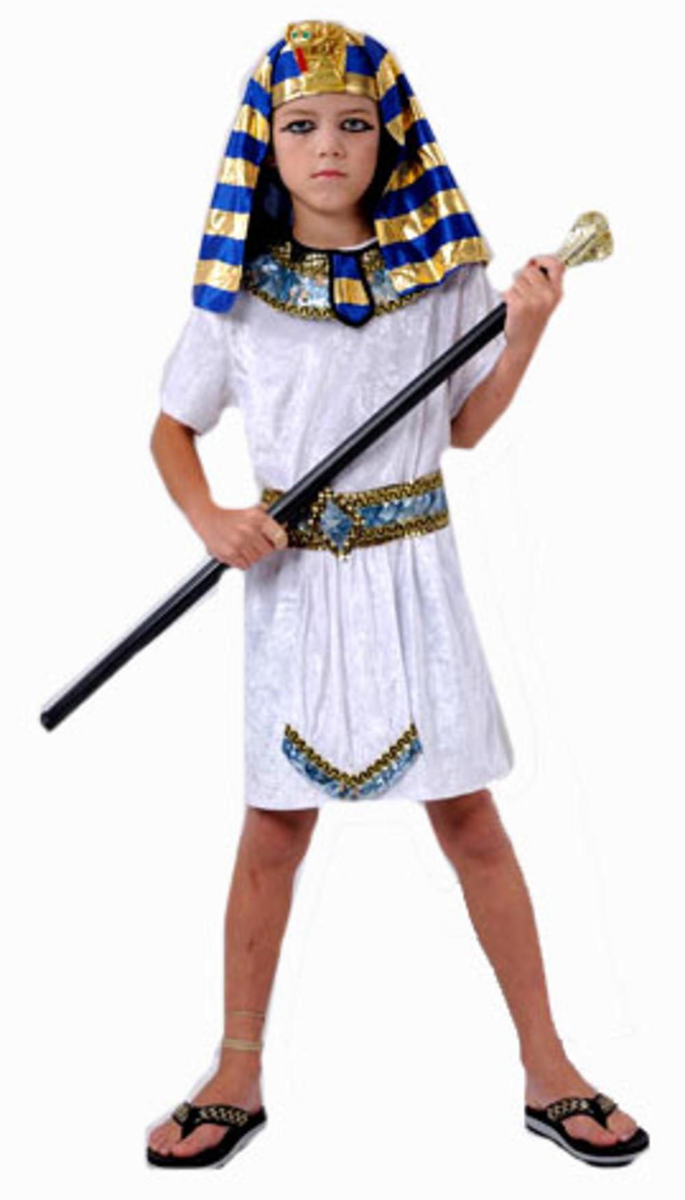 Egyptian Pharaoh Boy's Fancy Dress Kids Pharoah Book Week Costume Ages 4-12