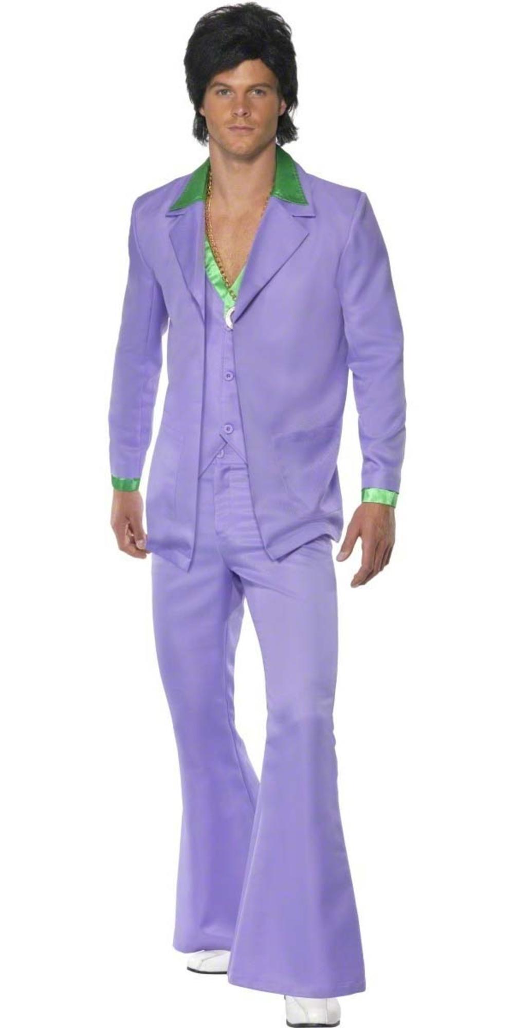 70s Lavender Suit Costume