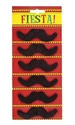 6 Set Fiesta Moustaches Mens Costume Accessory