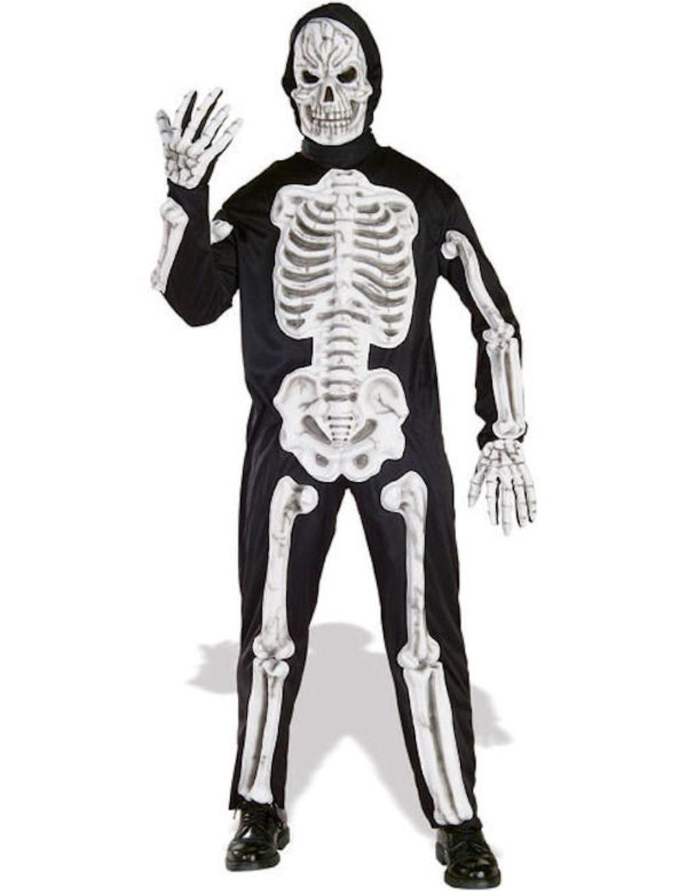 Adult 3D Skeleton Bone Costume