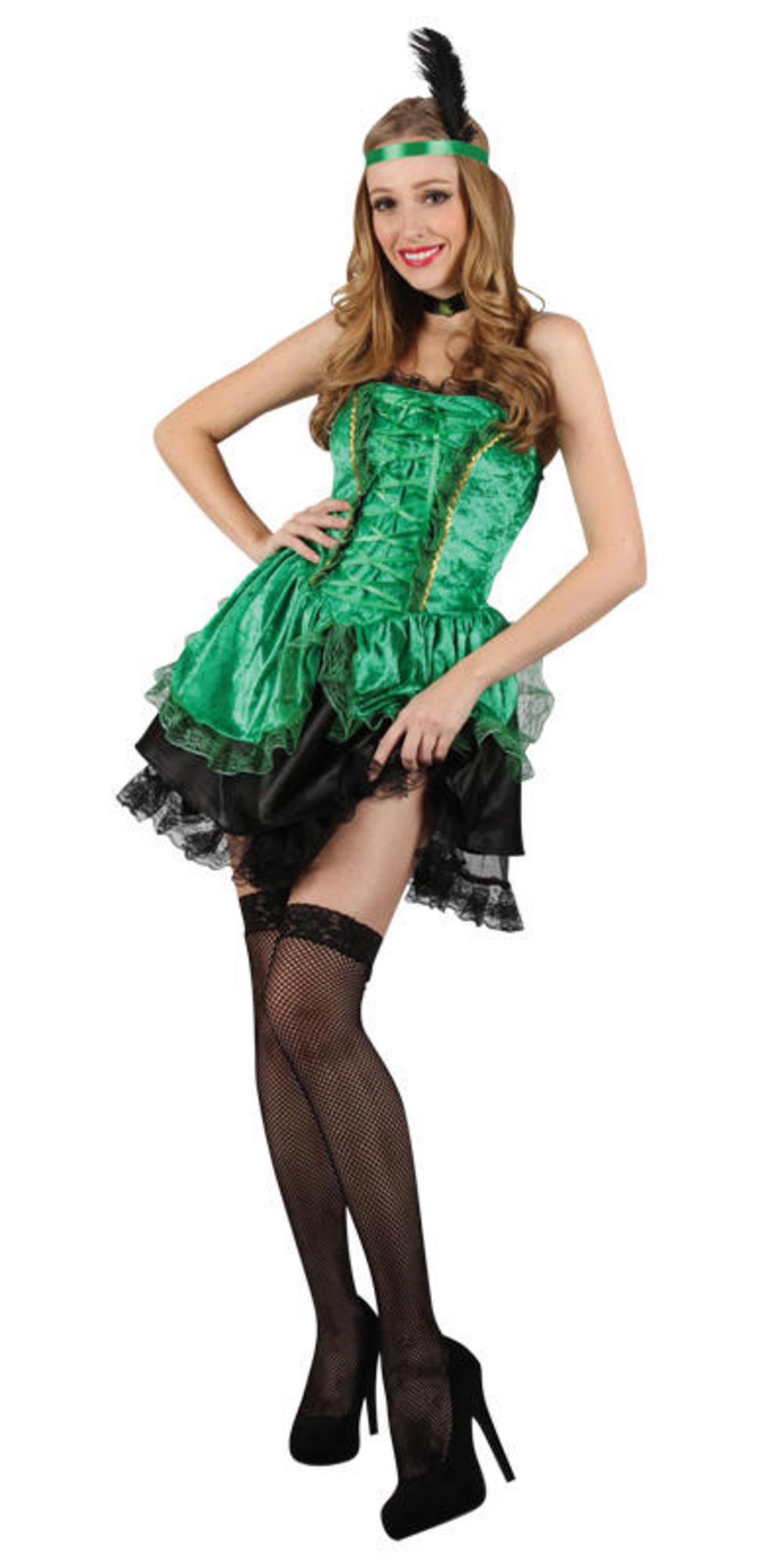 Green Sexy Saloon Girl Costume