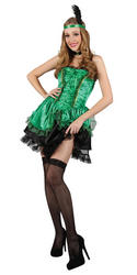 Green Sexy Saloon Girl Costume