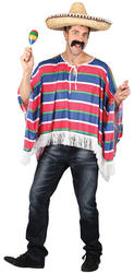 Mexican Striped Poncho Costume