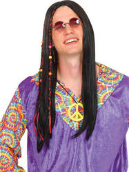 Cool Hippie Black Wig