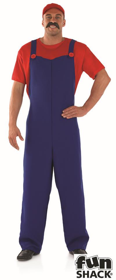 Red Plumbers Mate 80s Costume