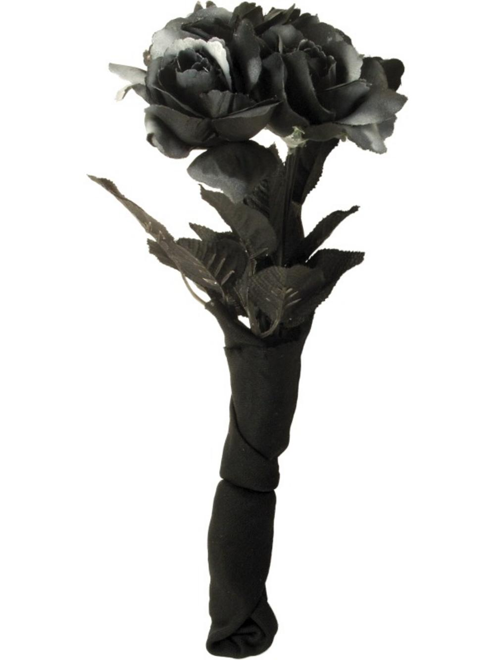 Bouquet Corpse Bride Black Roses