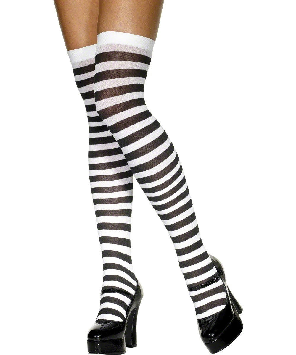 black and white striped halloween stockings halloween
