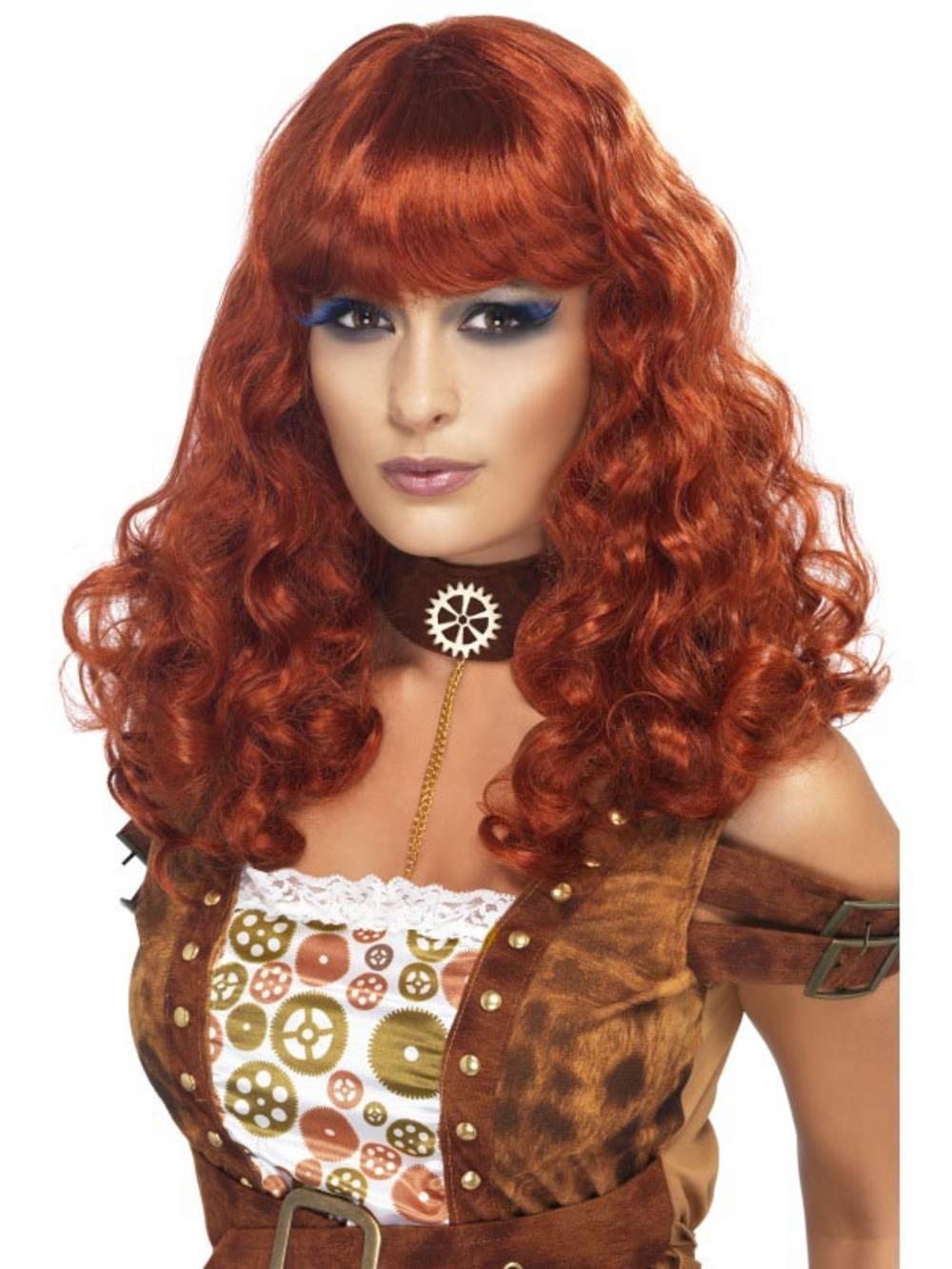 Auburn Steampunk Wig