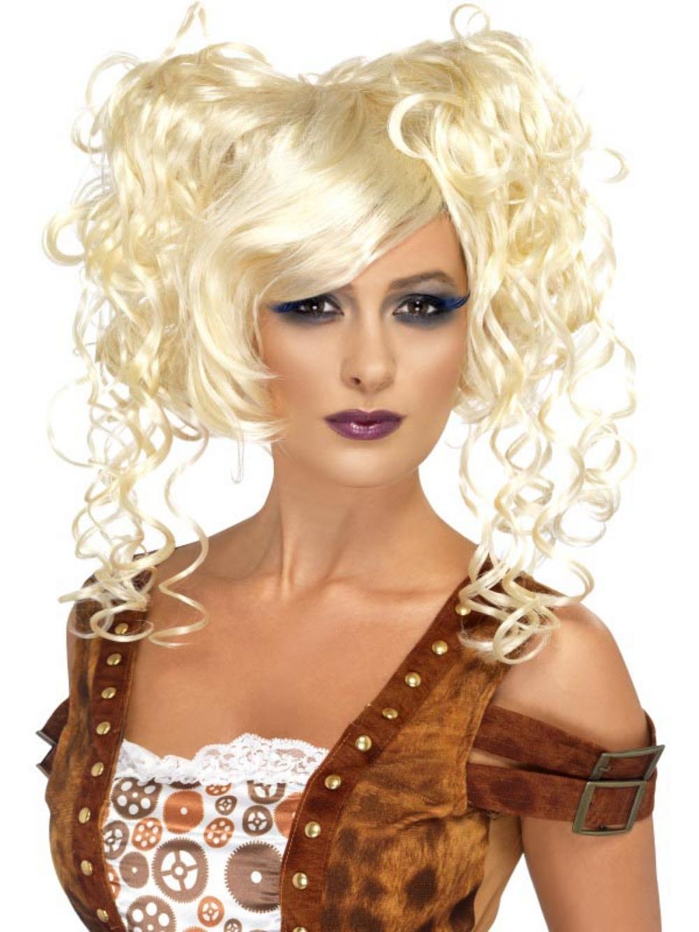 Blonde Steampunk Pigtails Wig