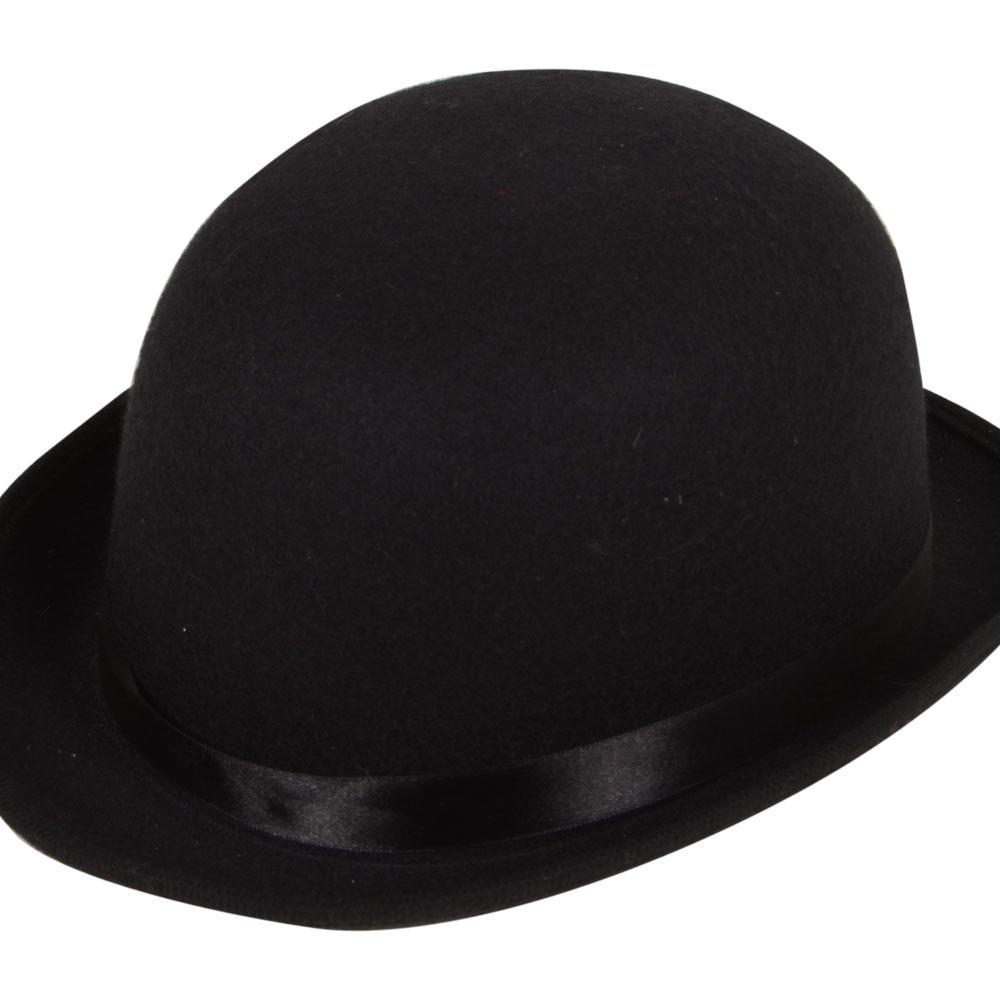 9ccf3ae4e15 Black Bowler Hat Costume