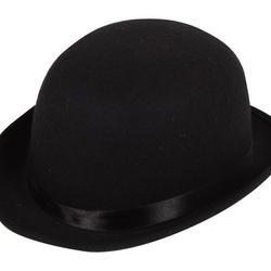 Black Bowler Hat Costume