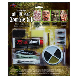All in One Family Zombie Makeup Kit