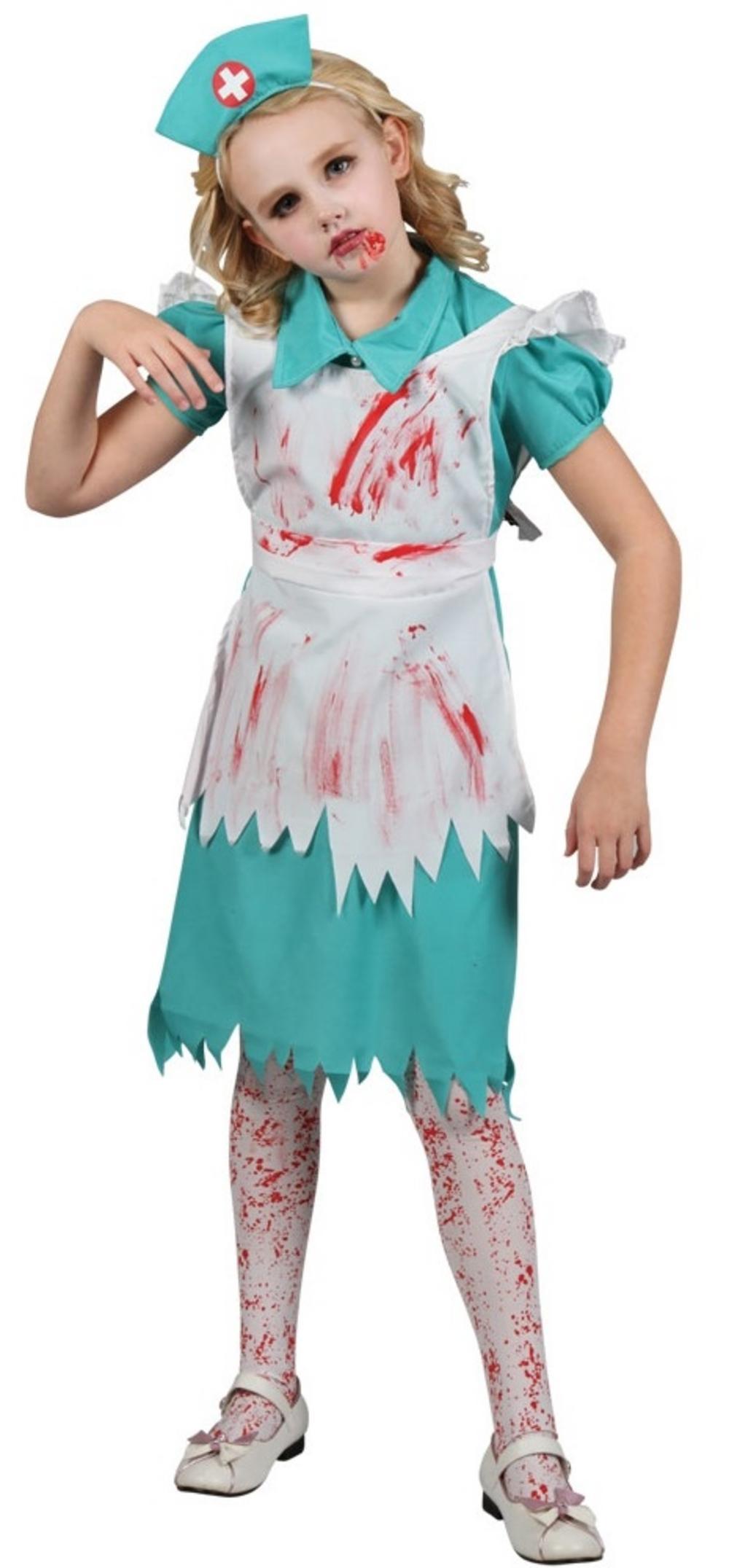 girls zombie nurse costume