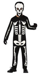 Childrens Skeleton Fancy Dress Costume