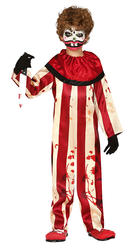Kids Striped Killer Clown Costume