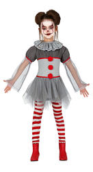 Bad Clown Girls Costume