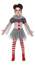 Bad Clown Girls Costume