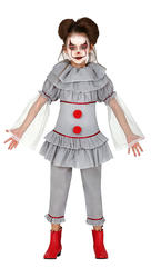 Girls Killer Clown Costume