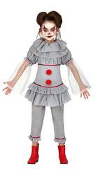 Girls Killer Clown Costume