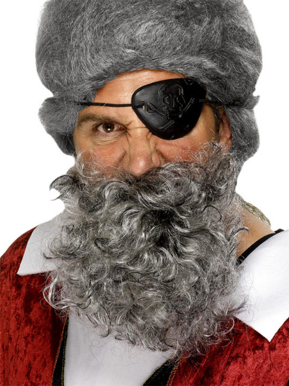Deluxe Grey Pirate Beard Costume