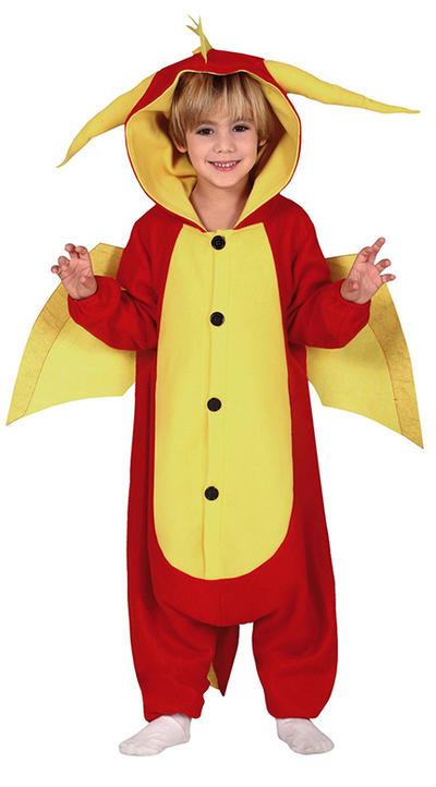 Kids Red Dragon Costume