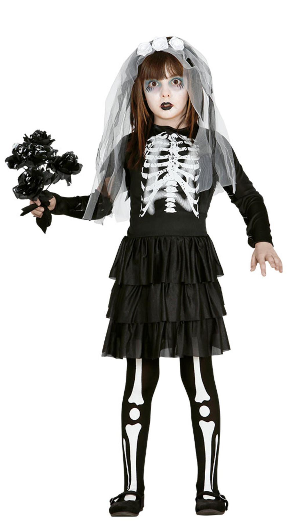 Skeleton Bride Girls Costume