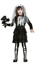 Skeleton Bride Girls Costume