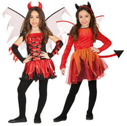 Fire Devil Girls Costume