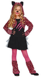 Pink Paws Leopard Girls Costume