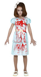 Girls Ghost Twin Costume