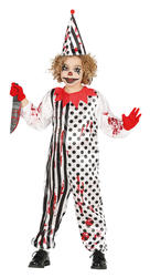 Zombie Clown Kids Costume