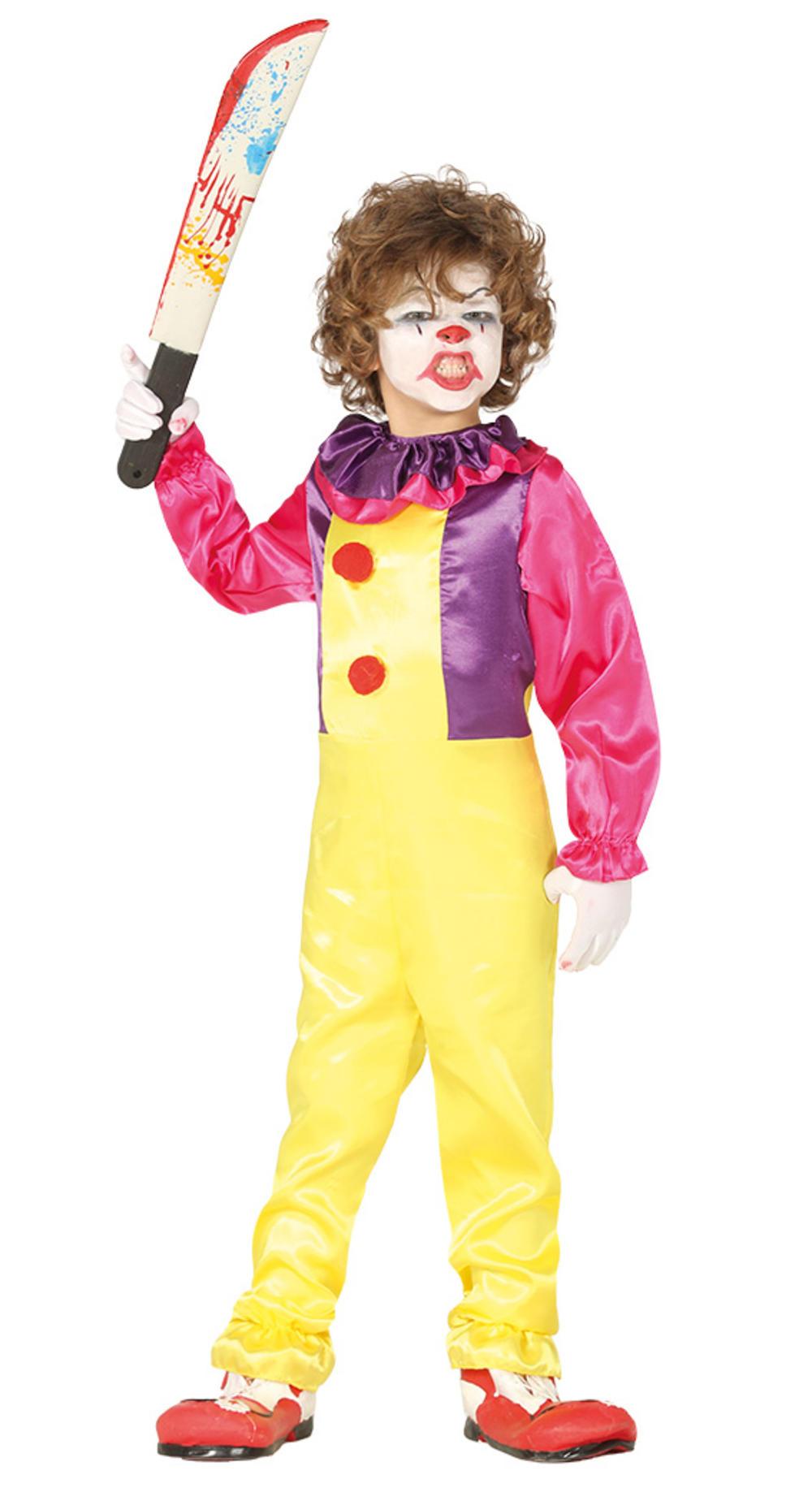 Evil Clown Kids Fancy Dress
