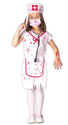 Girls Zombie Nurse Halloween Costume