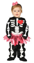Baby Skeleton Girls Costume