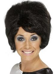 Sixties Black Beehive Wig