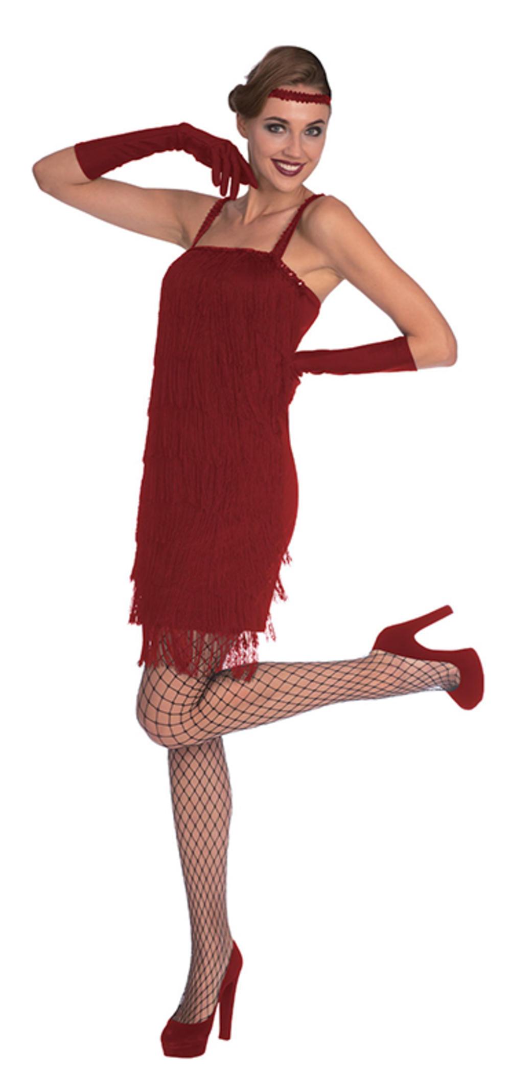 Red Flapper Dress Ladies Costume