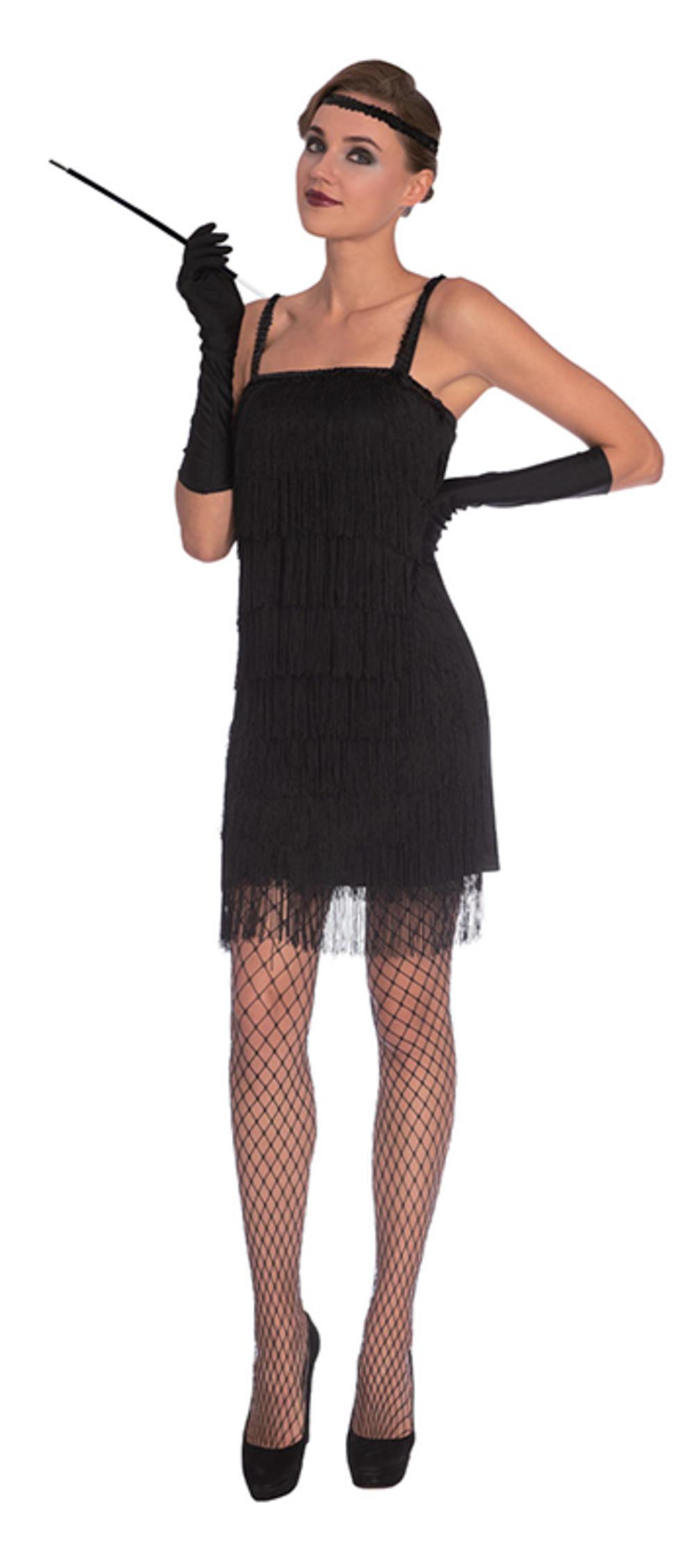 Black Flapper Dress Ladies Costume