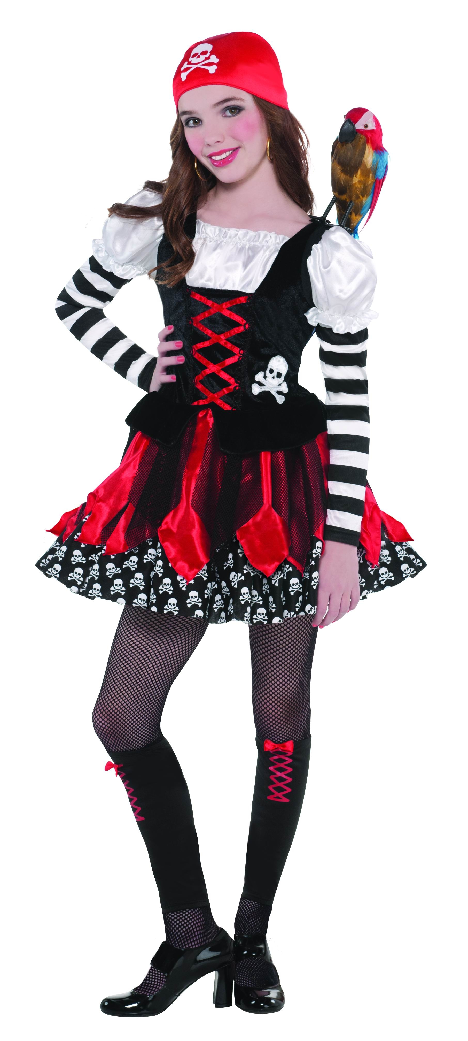 girls' crossbone cutie pirate costume | pirate fancy dress costumes