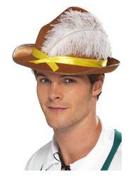 Adults Brown Bavarian Hat